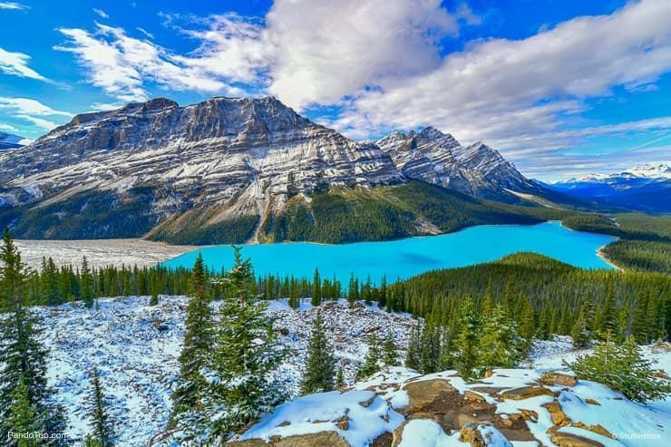 دریاچه دیدنی و جذاب پیتو در کانادا