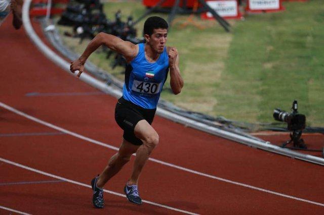 ملک پور در مقدماتی 400 متر بامانع بازی های آسیایی متوقف شد