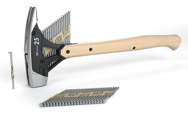 با این چکش فقط با یک دست میخ را به هر سطحی بکوبید