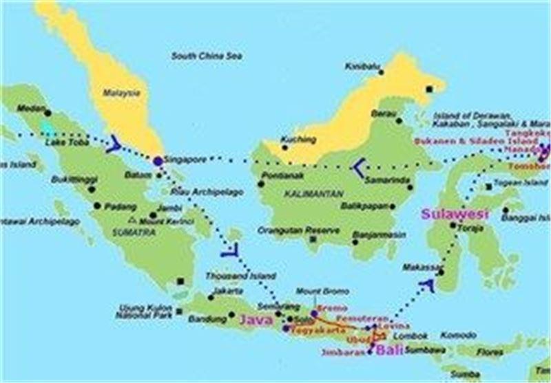 6 کشته و 7 مفقود در آتش سوزی کشتی در اندونزی