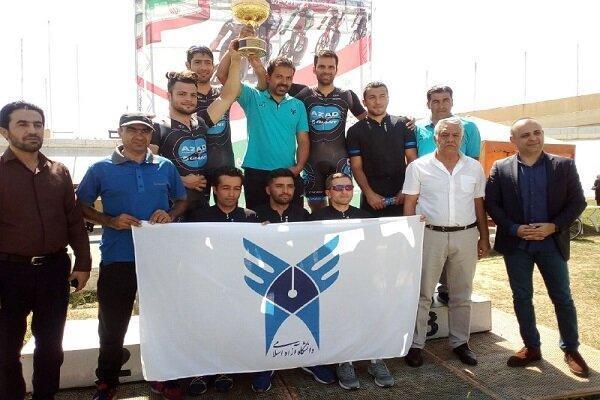 تیم دانشگاه آزاد قهرمان لیگ برتر پیست شد