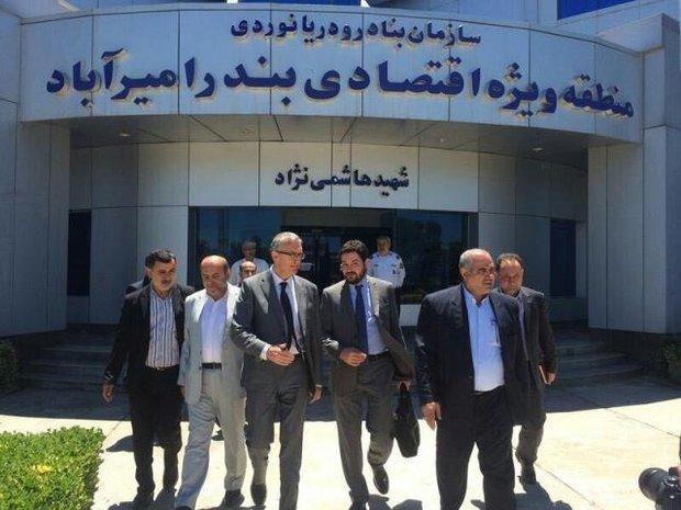 هیئت گردشگری ایتالیایی از منطقه ویژه امیرآباد بازدید کرد