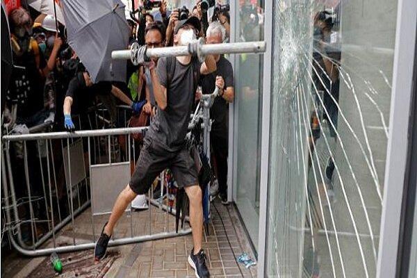 ادامه ناآرامی ها در هنگ کنگ، بانک های چینی هدف قرار گرفتند