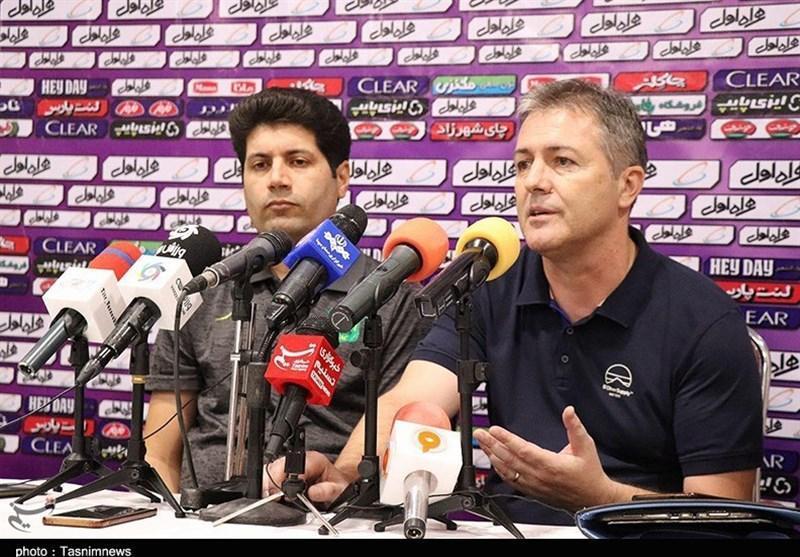کرمان، اسکوچیچ: بیشتر زمان بازی در اختیار ما بود، هیچ وقت برای دفاع کردن وارد زمین نمی شویم