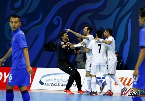 پیروزی خیره کننده فوتسال ایران مقابل تایلند ، شاگردان ناظم الشریعه به نیمه نهایی آسیا رسیدند