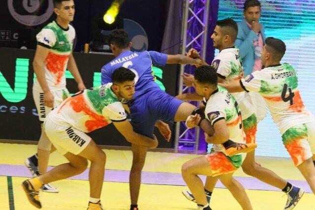سومین پیروزی ایران در رقابت های کبدی جوانان دنیا