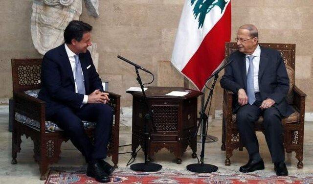 نخست وزیر ایتالیا با رئیس جمهور لبنان ملاقات کرد