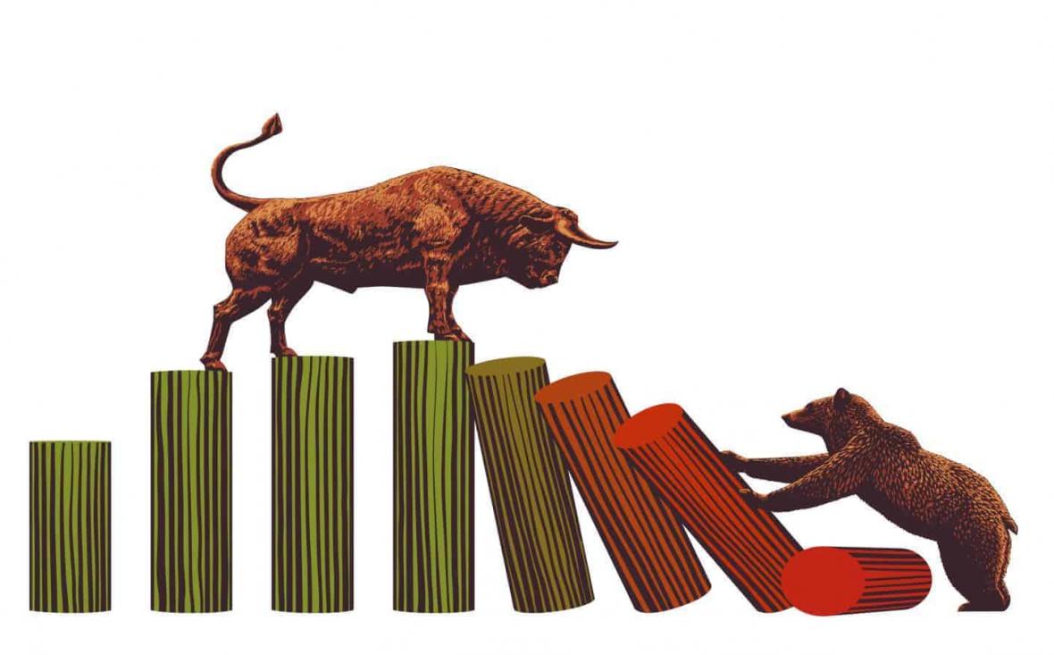 ترکیب صعود و نزولی شرکت ها در بورس