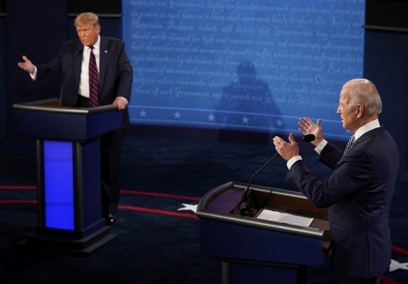 آمارهای اولین مناظره انتخاباتی آمریکا، ترامپ 73 بار میان صحبت های بایدن پرید