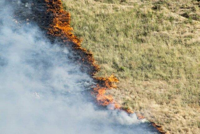 آتش سوزی در جنگل های درکش و هاور در مانه و سملقان