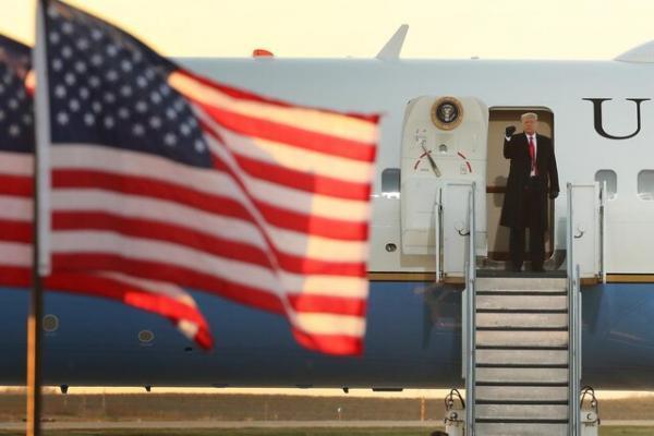 ترامپ صبح چهارشنبه با ایرفورس وان به فلوریدا می رود