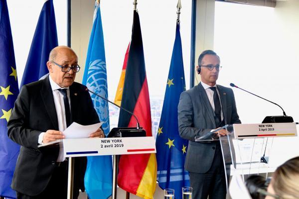خبرنگاران وزرای خارجه آلمان و فرانسه درباره حفظ برجام گفت وگو کردند