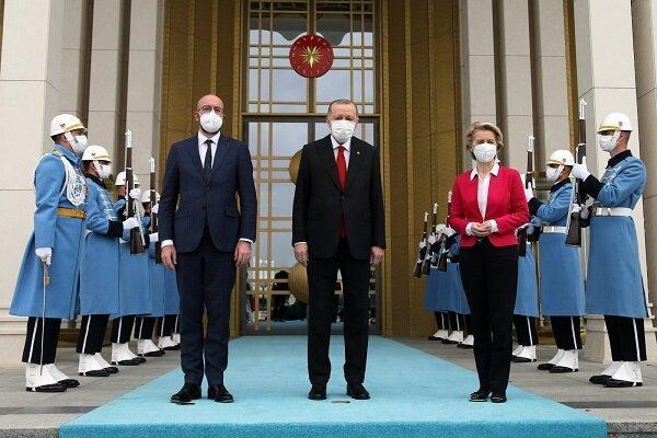 ورود دو مقام ارشد اتحادیه اروپا به آنکارا ، اردوغان استقبال کرد
