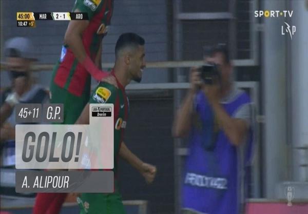 لیگ برتر پرتغال، گلزنی علیپور مانع از توقف ماریتیمو نشد